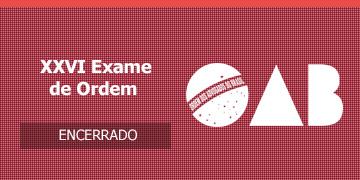 Imagem para o Concurso OAB - 2018 - XXVI Exame de Ordem Unificado
