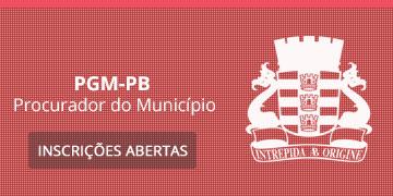 Imagem para o Concurso PGM - João Pessoa - PB - 2018 - Procurador do Município
