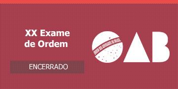 Imagem para o Concurso OAB - 2016 - XX Exame de Ordem Unificado